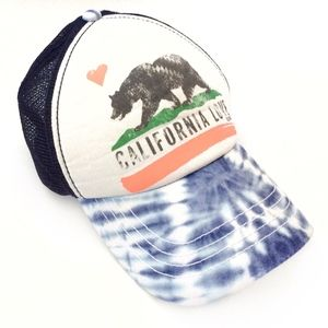 Billabong Pit Stop Tie Dye Trucker Hat California